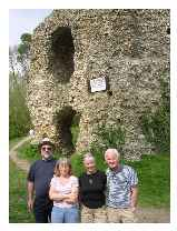 King John`s Castle at Odiham - he left to sign Magna Carta from here